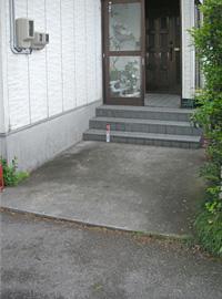【住宅改修】スロープ兼階段の設置
